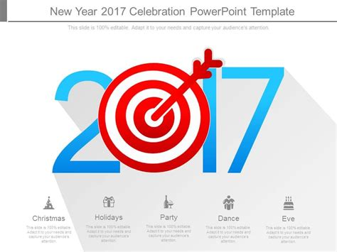 new year slide template new year 2017 celebration powerpoint template ppt images