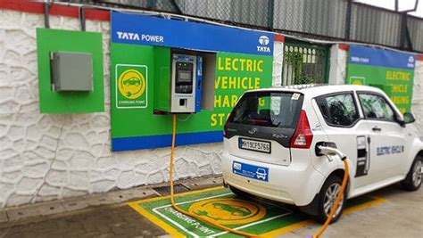 electric vehicles charging stations mumbai s ev charging station set up by tata power