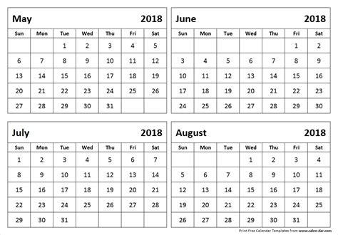 printable calendar june july august 2018 may june july august calendar 2018 larissanaestrada com