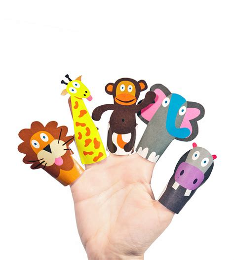 Finger Puppets With Paper - jungle animals paper finger puppets printable pdf diy