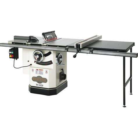 shop fox woodworking tools shop fox cabinet saw with riving knife 10in model