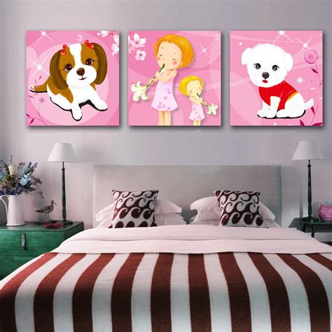 arrival modular  panel painting picture cute dog