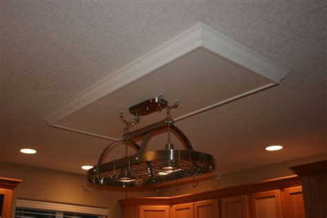 how to hang a drop ceiling with lights handmade drop ceiling with hanging pot rack by charles parsons contractors inc custommade