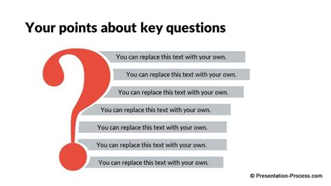 process layout questions flat design templates powerpoint closing slides