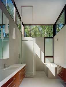 Long Thin Bedroom Design High Windows Long Narrow Space Bathrooms Pinterest