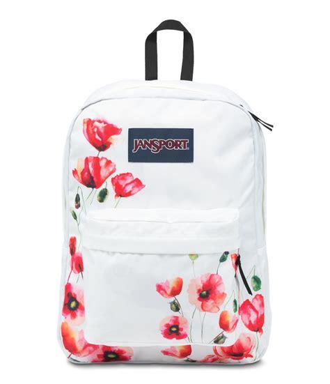 jansport superbreak backpack floral poppy
