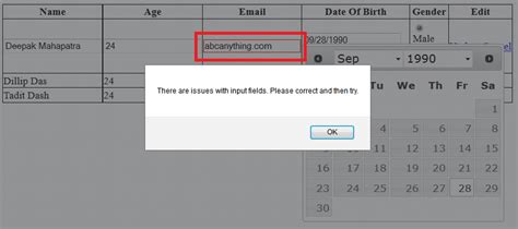 jquery validation pattern not working jquery validate email field phpsourcecode net