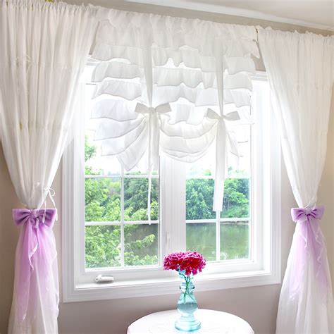 how to make balloon tie up curtains soozone