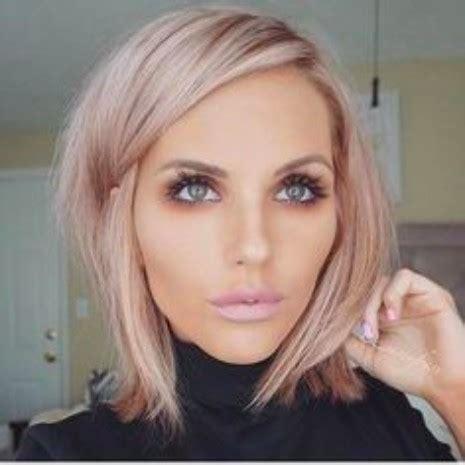 blush blonde bob | hairstyles & haircuts for men & women