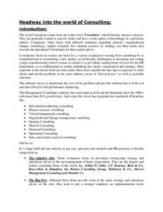 Business Consultant Report Template headway into the world of consulting introduction the word consultant