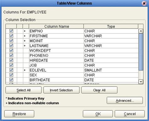oracle change table name creating an oracle otd developing otds for database adapters