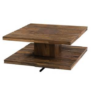 Parker square coffee table 30 quot bina contemporary reclaimed wood