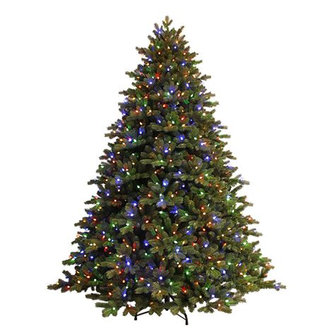 7 5 ft tree with 1000 lights ge 7 5 ft just cut ez light spruce artificial