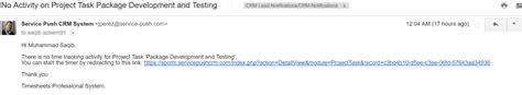 Timesheet Ninja Enterprise Suitecrm Module Timesheet Email Template