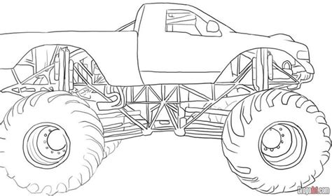 monster truck coloring pages learn to coloring