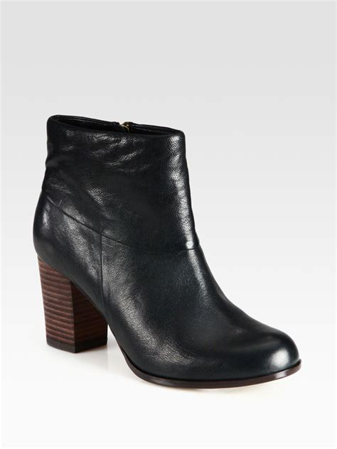 cole haan cassidy leather ankle boots in black lyst