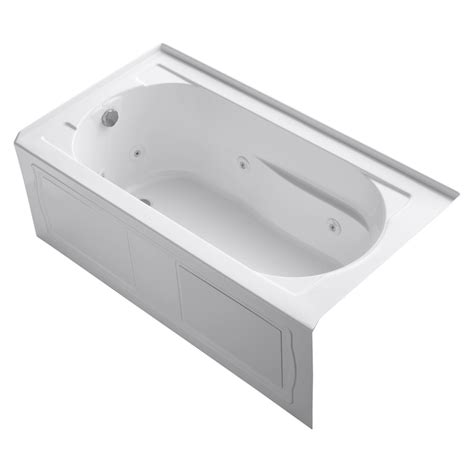 kohler whirlpool bathtubs shop kohler devonshire white acrylic oval in rectangle