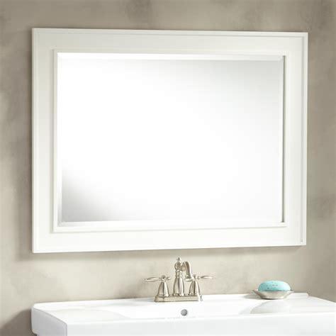White Bathroom Mirrors by Bathroom Framed Mirror Signaturehardware