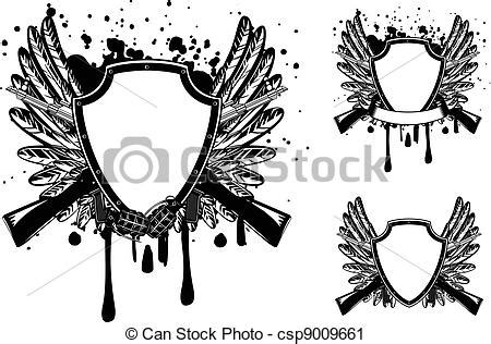 tattoo machine with circle slot frame stock vector vector clip of shield with automatic machine vector