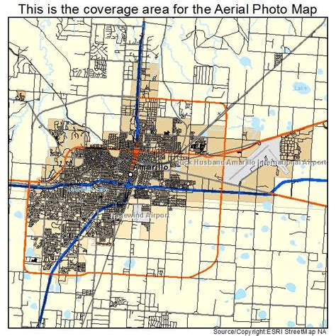 amarillo tx map of texas aerial photography map of amarillo tx texas