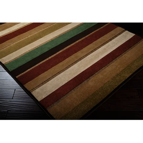 Square Outdoor Rugs Shop Portera Stripes Outdoor Rug 7 5 Square Surya Rugs Outdoors Dfohome Dfohome