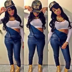 overalls black people swag pinterest army hat urban