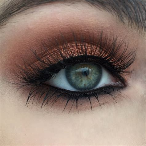 Eyeshadow Gel warm copper photo tutorial gel liner frappe and eyeshadows