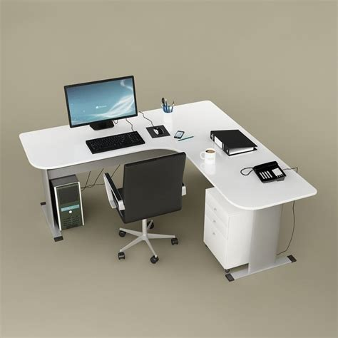 Desk Office 02 3d Model Max Obj Fbx Mtl Cgtrader Com Desks Office Max