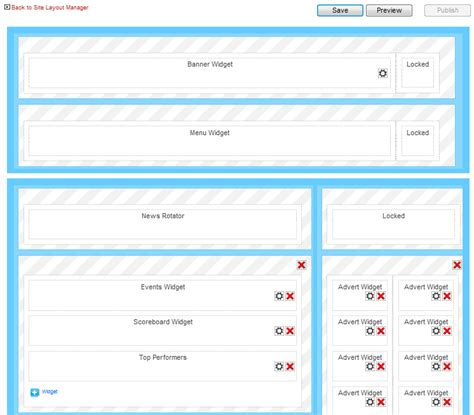 homepage layout manager virtue using the site layout manager mycricket support