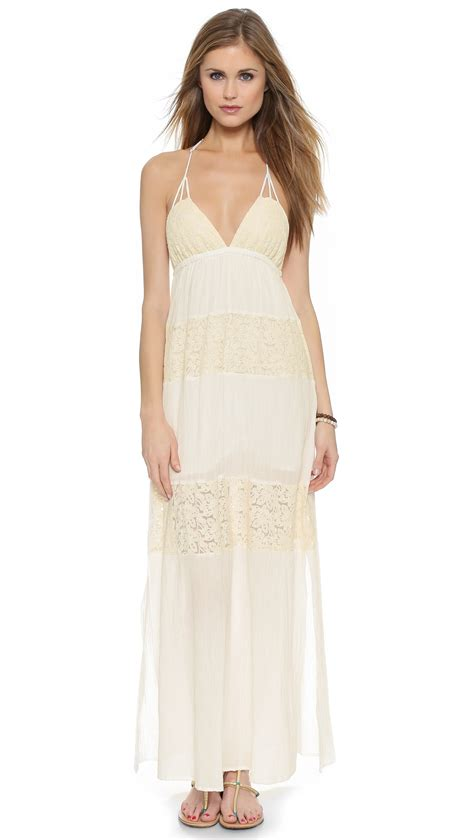 Goldy Maxy Dress l space l goldie maxi dress ivory in white ivory