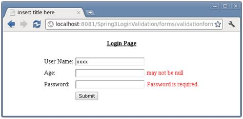 pattern for url validation spring mvc form validation with