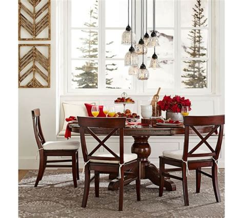 sumner extending pedestal dining table 2015 pottery barn columbus day sale furniture and home
