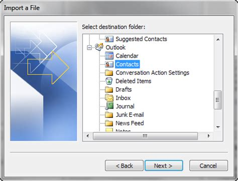 csv format to import contacts into outlook how to import an excel csv contacts file into outlook 2010