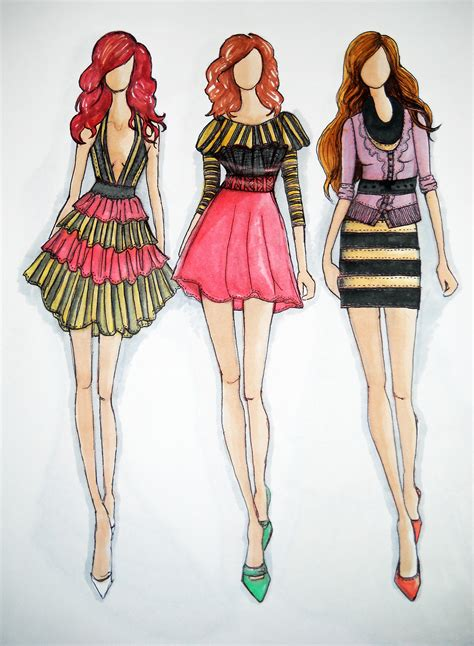 design fashion sketches online glamorous fashion sketches and illustrations best 50