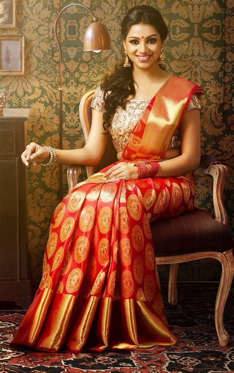 Red Kanchipuram Wedding Silk Saree {The Chennai Silks