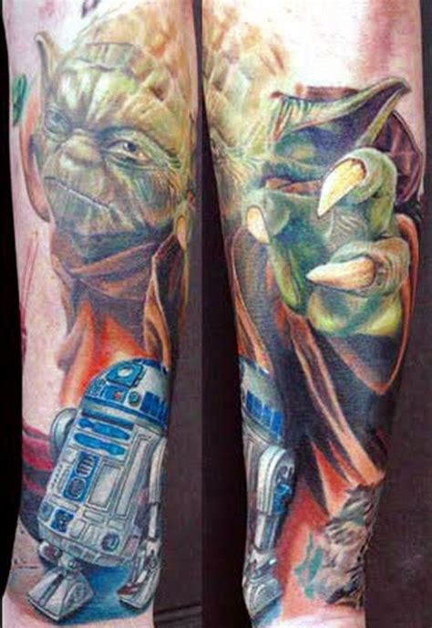 nerd tattoos pt 3 the force is strong with these ones