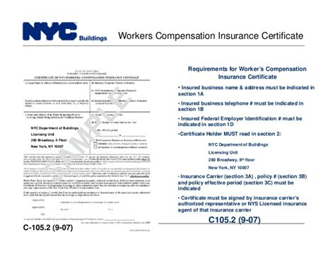 Nyc Dob Designated Foreman Card Template by Certificate Of Insurance Template New York Gallery