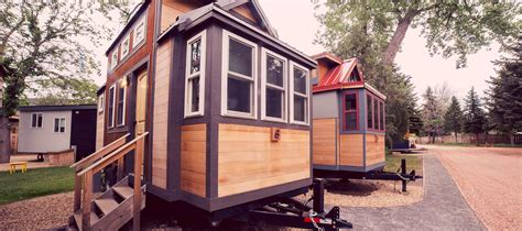 tiny home rentals colorado tiny house town the rusty aspen 170 sq ft