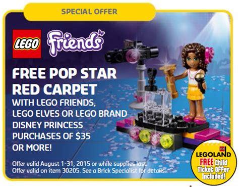 Lego Friends 30205 Pop Carpet Andrea Polybag New august 2015 lego store calendar free promos events bricks and bloks