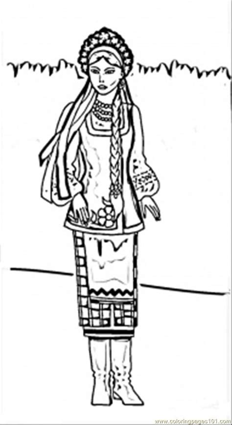 Ukrainian Coloring Pages Free Printable Coloring Page Ukrainian Woman Countries by Ukrainian Coloring Pages