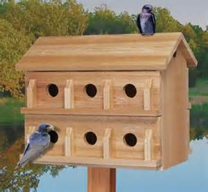 Cedar Bird House Plans Ultimate Martin House Wood Project Plan This 12 Room Cedar House Features Slide Out Floors For