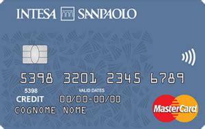 intesa carte di credito carta di credito di intesa san paolo
