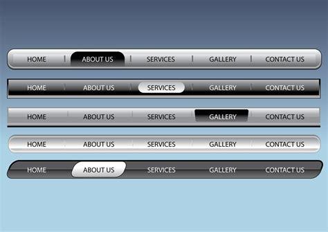 html design navigation bar web navigation bars vector art graphics freevector com