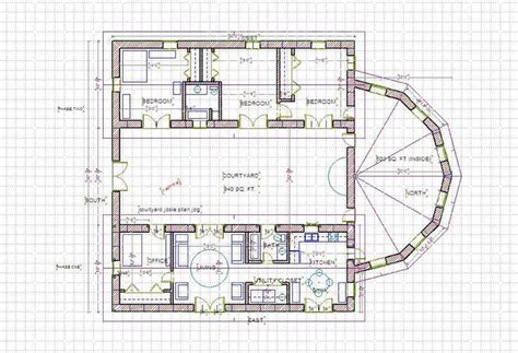 Straw Bale House Plans Courtyard A Straw Bale House Plan 375 Sq Ft Straw Bale House