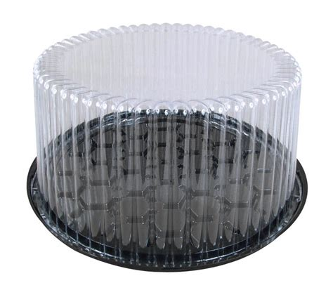 Cake Container d w pack g27 9 quot 2 3 layer plastic cake display