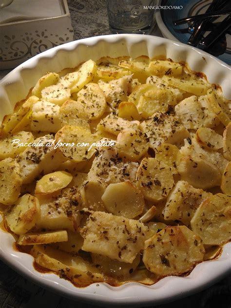 baccal 224 al forno con patate mangioridoamo