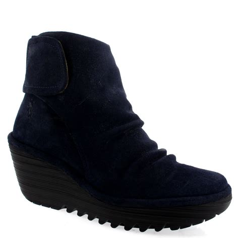 womens fly yegi winter suede fashion casual wedge