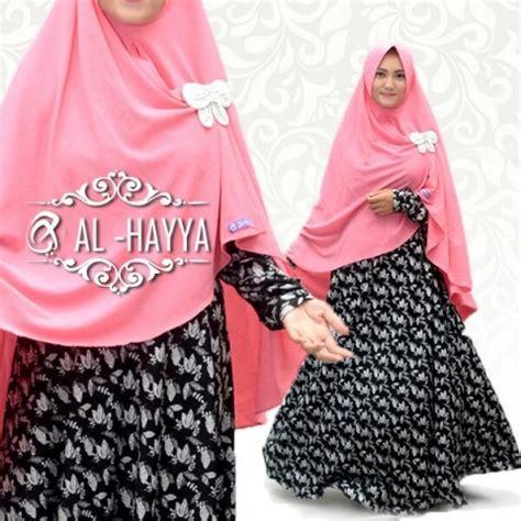 Gamis Hayya gamis syari black tulip premium baju muslim modern