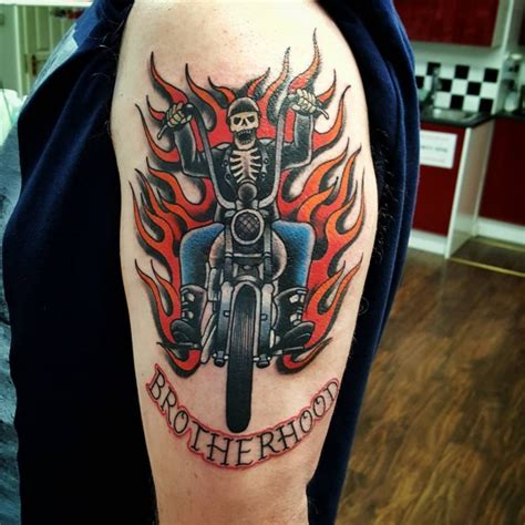 biker tattoos for men 85 best biker designs meanings for