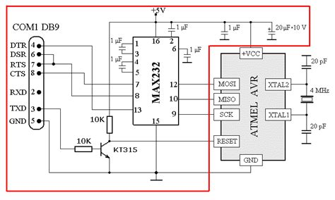 exister apr 232 s un simple avr programmer using max232 and rs232 avr freaks